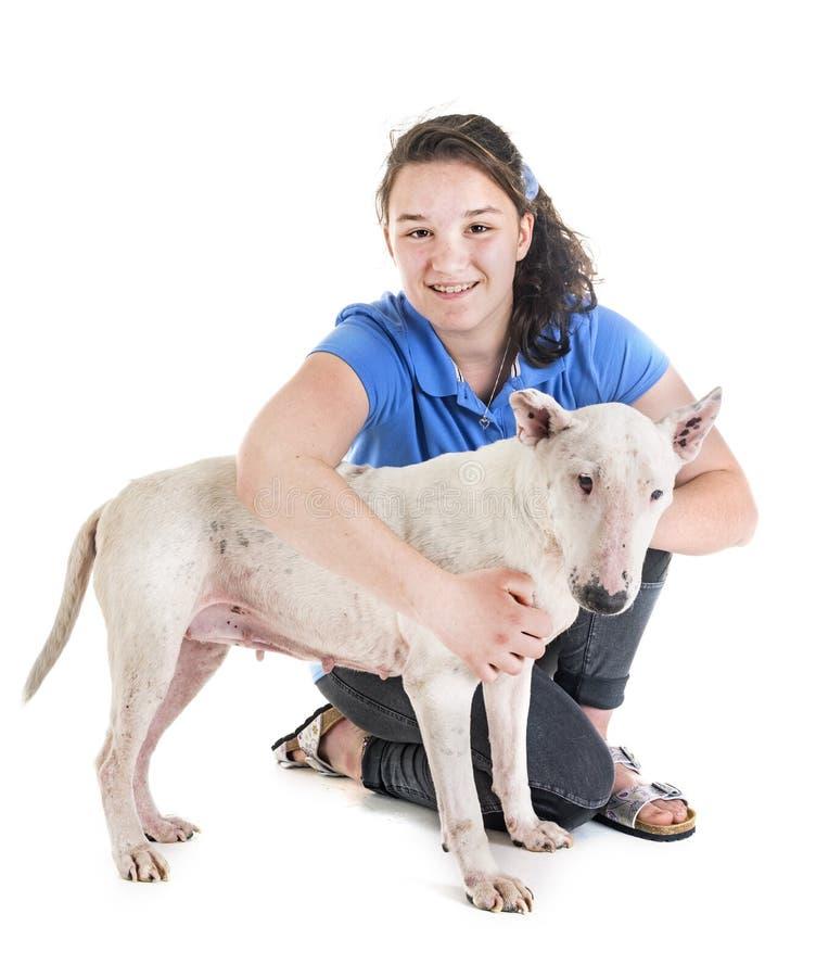 Cane, proprietario ed obbedienza immagini stock libere da diritti