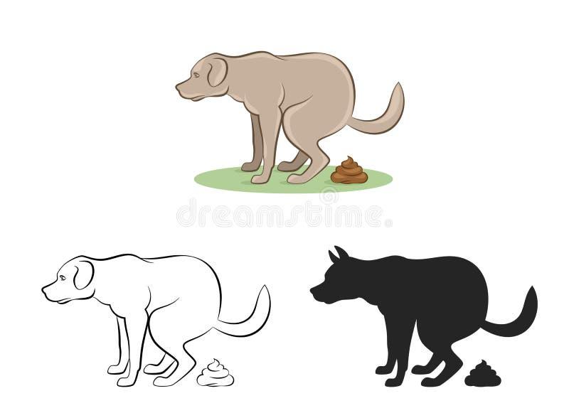 Cane sporco illustrazione di stock