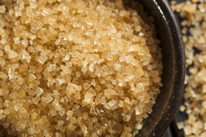 Cane Sugar orgânico cru fotos de stock royalty free