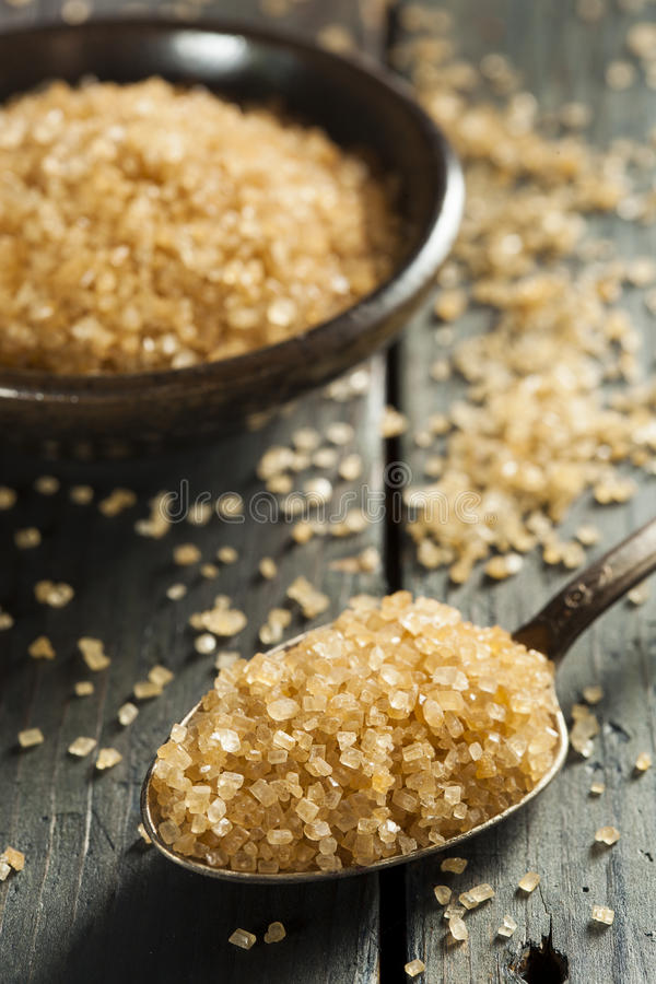 Cane Sugar orgânico cru fotografia de stock royalty free