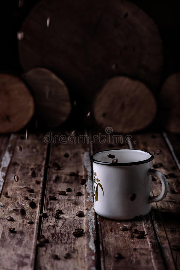Caneca com café fotografia de stock royalty free