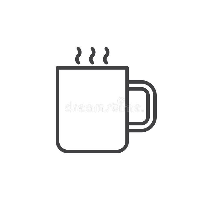Caneca com linha quente ícone da bebida ilustração do vetor