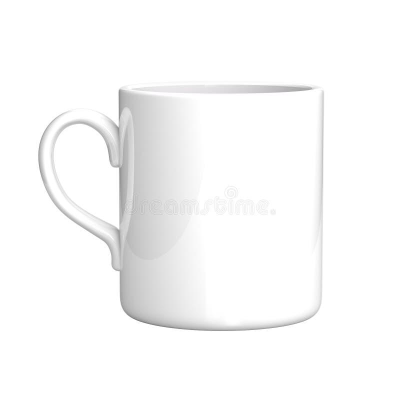 Caneca de café branco ilustração royalty free