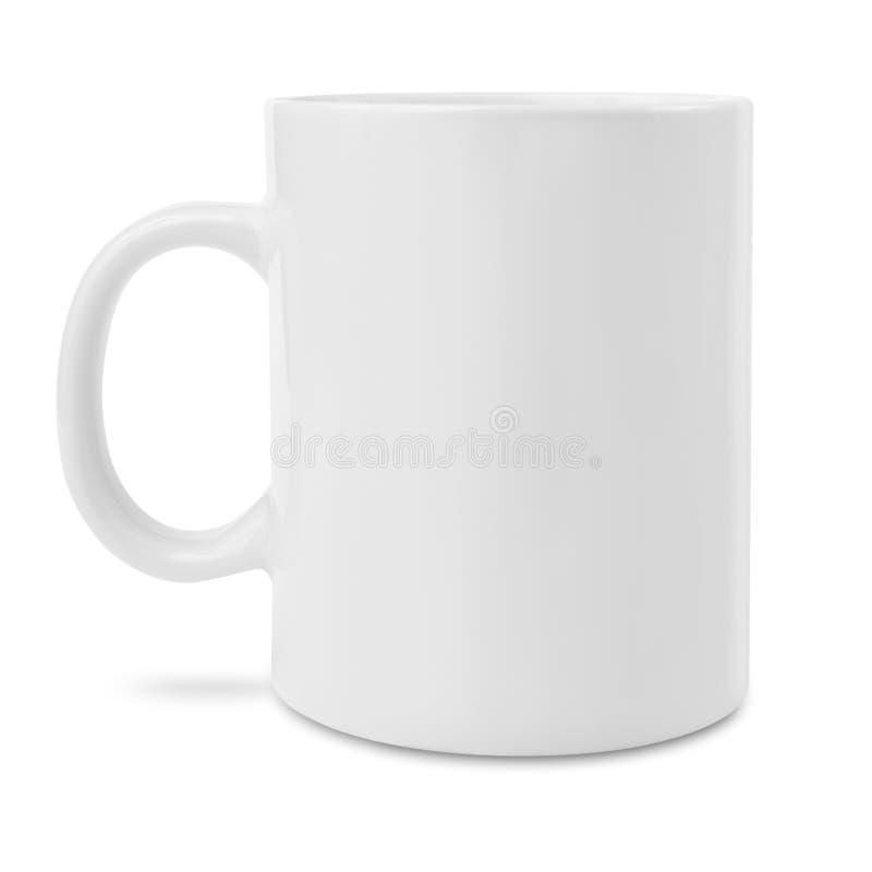 Caneca de café branco em branco foto de stock