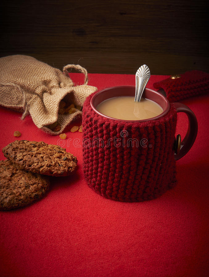 Caneca de café com leite imagens de stock