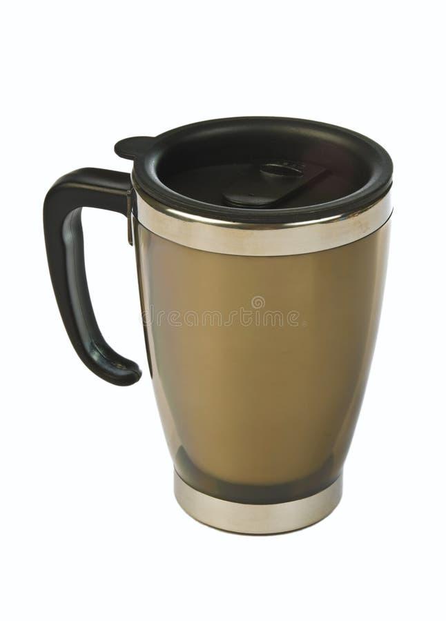 Caneca de café isolada térmica fotografia de stock royalty free