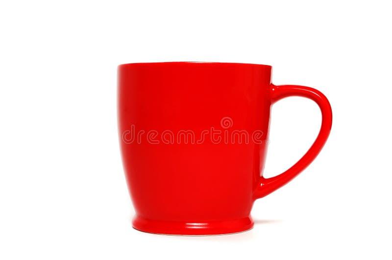 Caneca de café vermelha fotografia de stock