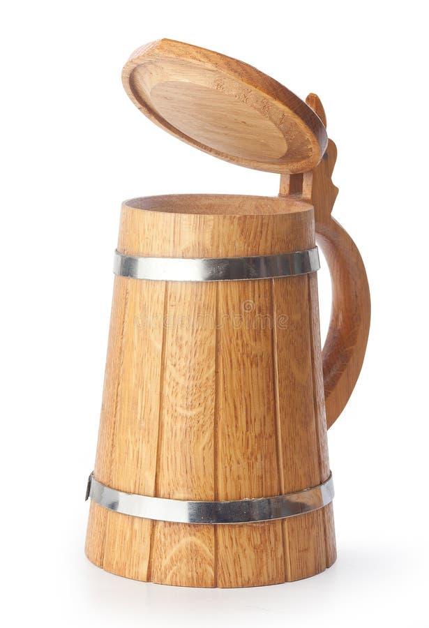 Caneca de cerveja de madeira foto de stock royalty free