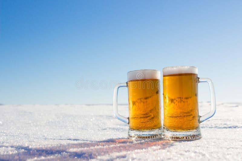 Caneca de cerveja fria fotografia de stock