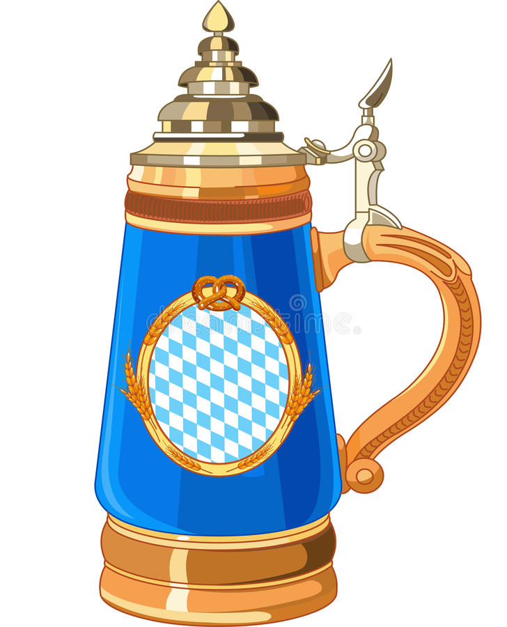 Caneca de Oktoberfest ilustração royalty free