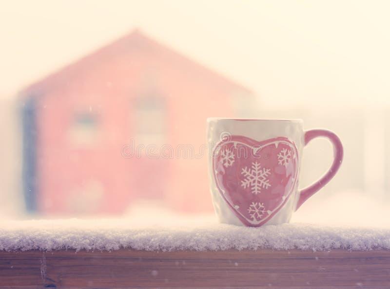 Caneca do inverno fotografia de stock