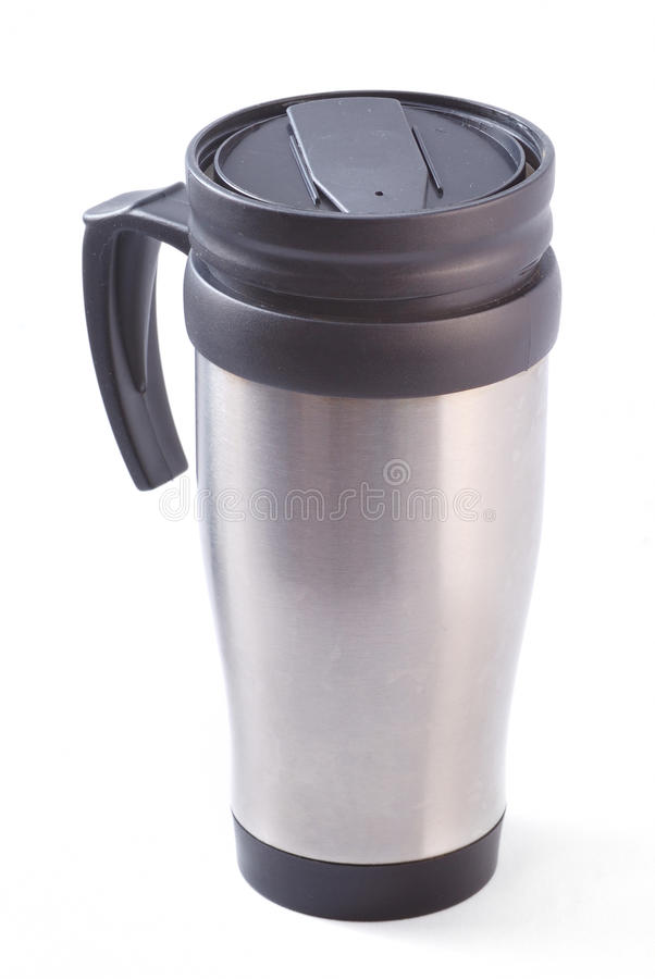 Caneca do thermos do café foto de stock royalty free