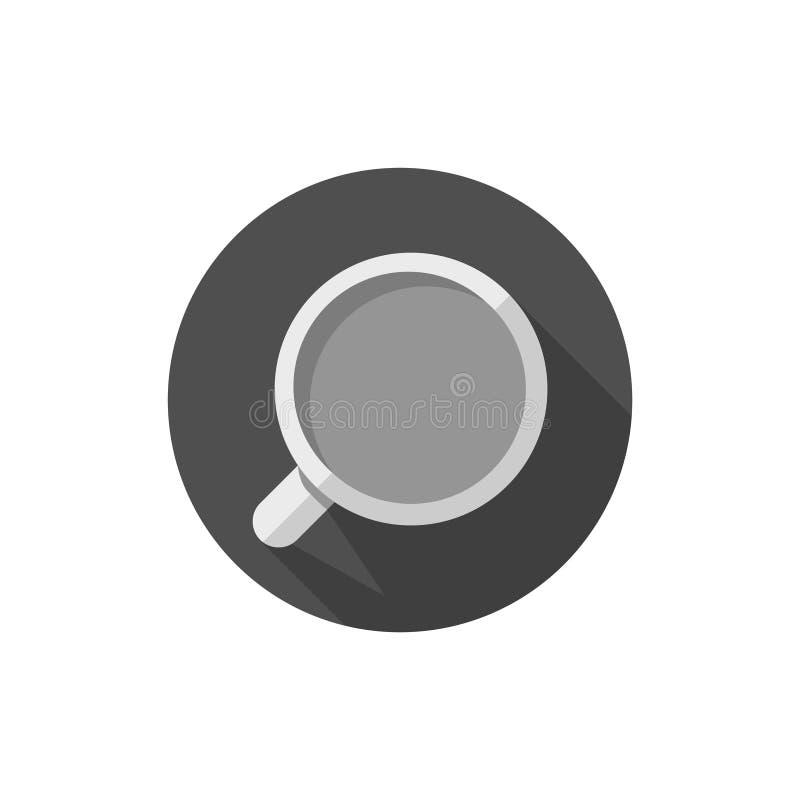 Caneca ou copo liso do projeto ilustração do vetor