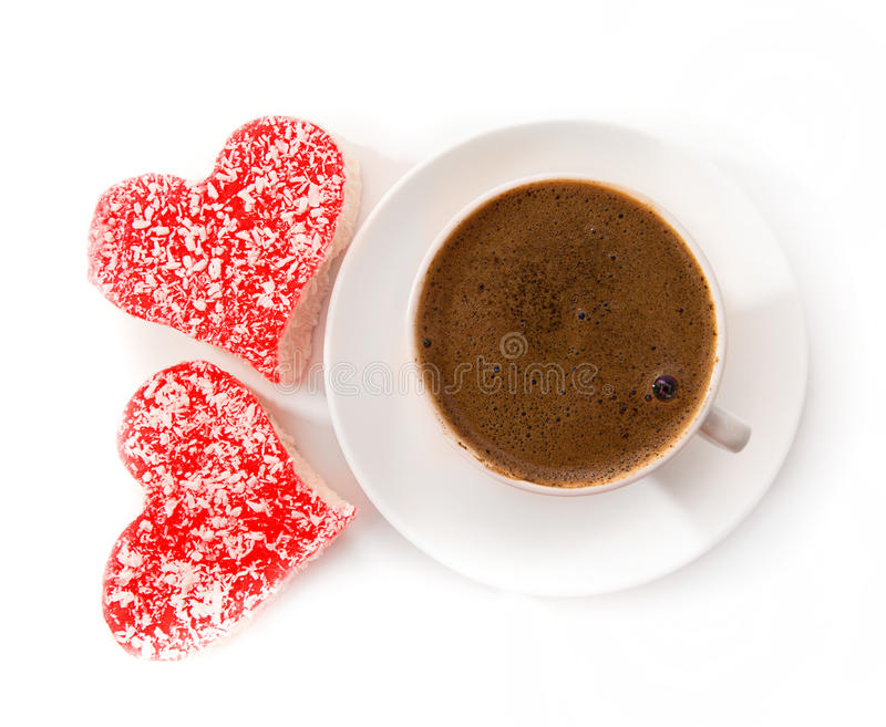 Canecas de café com querido imagem de stock royalty free