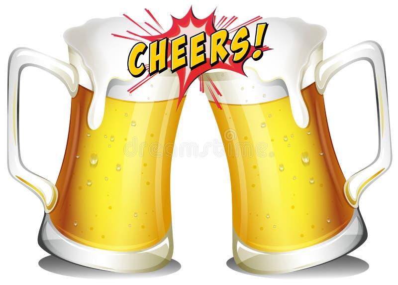 Canecas de cervejas ilustração do vetor