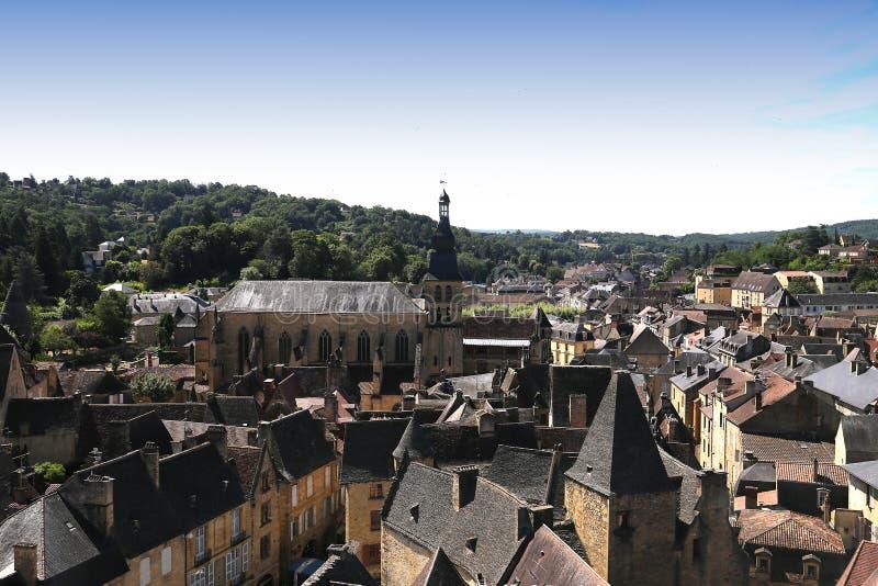Canedadorp van Sarlatla, perigord, Frankrijk stock afbeeldingen