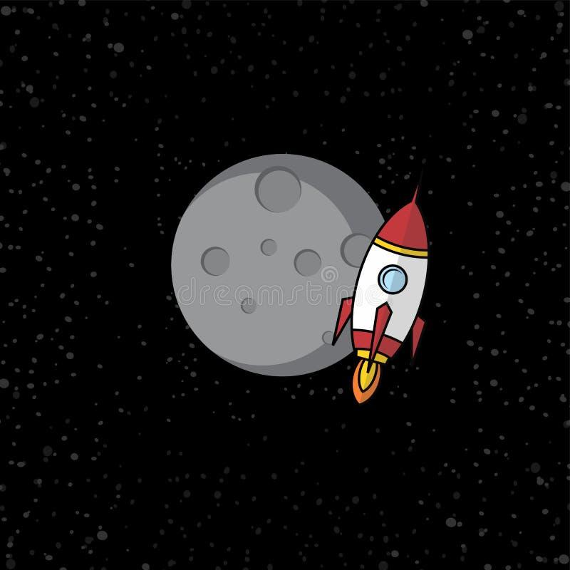 canela do foguete de espaço ilustração royalty free