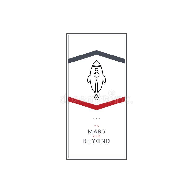 canela do navio da ciência da expedição do foguete de espaço ilustração stock