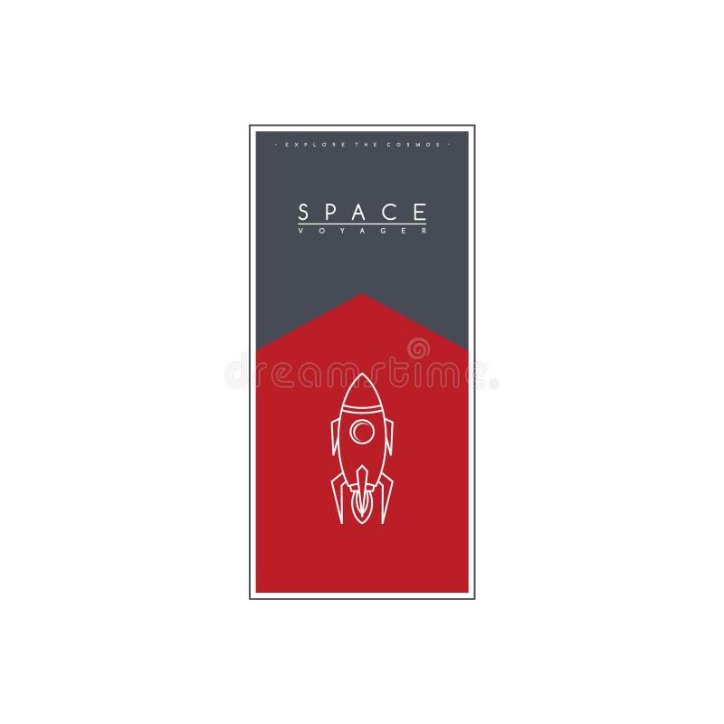 canela do navio da ciência da expedição do foguete de espaço ilustração royalty free