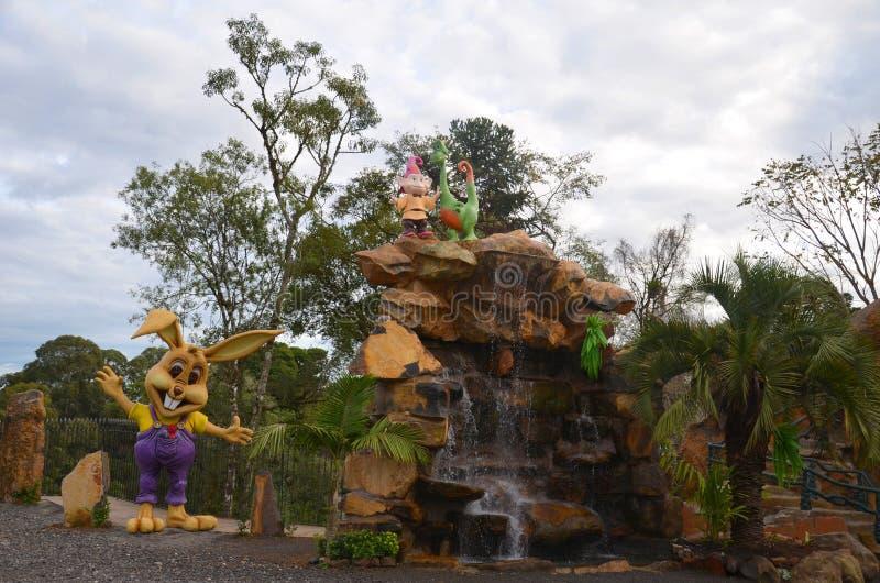 Canela, Gramado, Río Grande del Sur, el Brasil - magia de Florybal del parque de la tierra foto de archivo