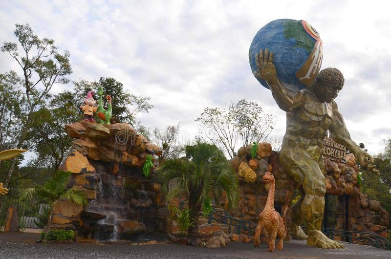 Canela, Gramado, Rio Grande doet Sul, Brazilië - land Park Magische Florybal stock afbeelding