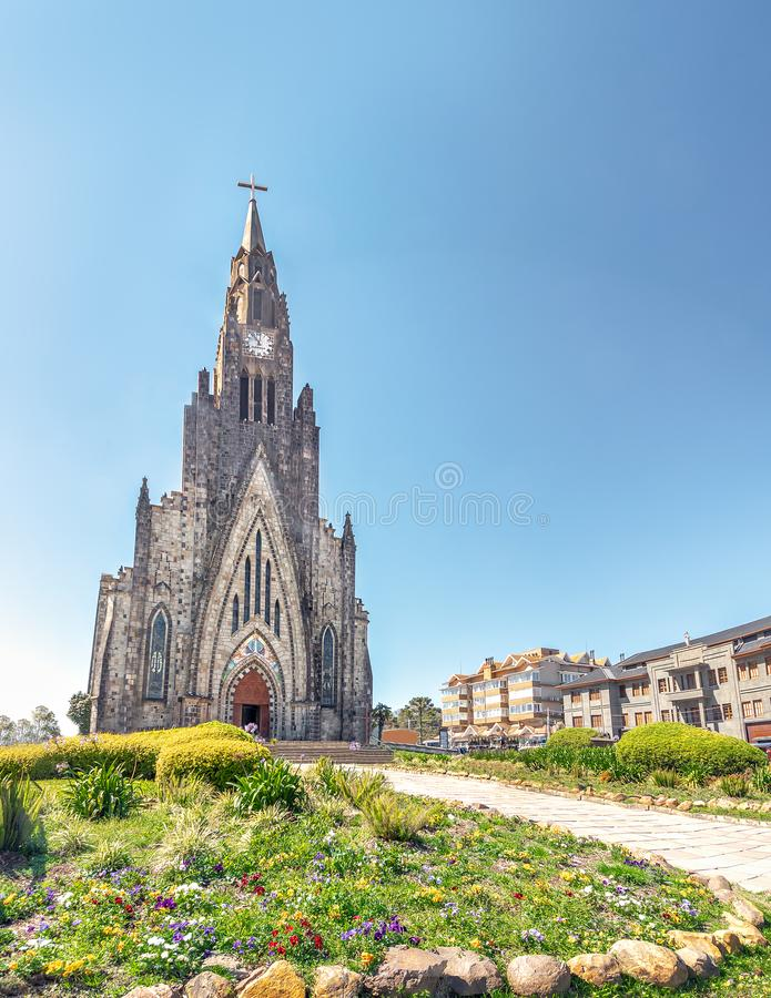 Canela Stone Cathedral - Canela, Rio Grande do Sul, Brazil royalty free stock photos