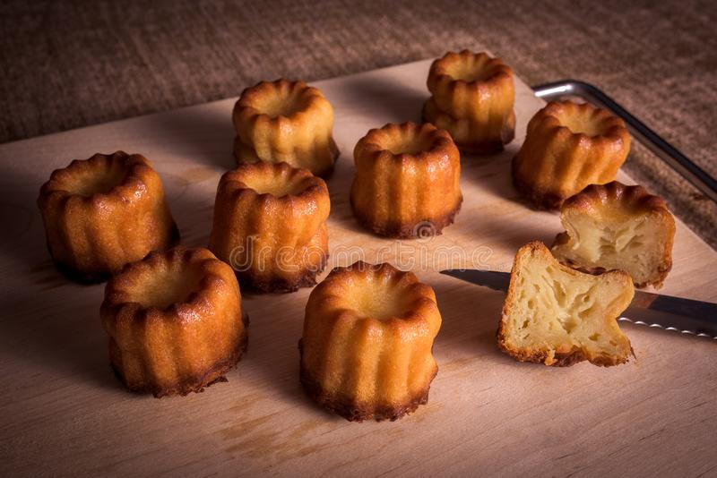 Caneles do Bordéus imagem de stock