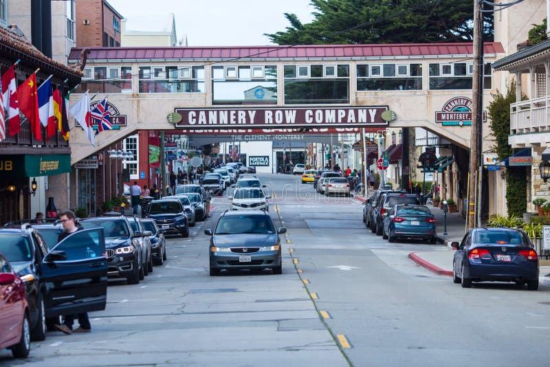 Canery-Reihe, Monterey stockbilder