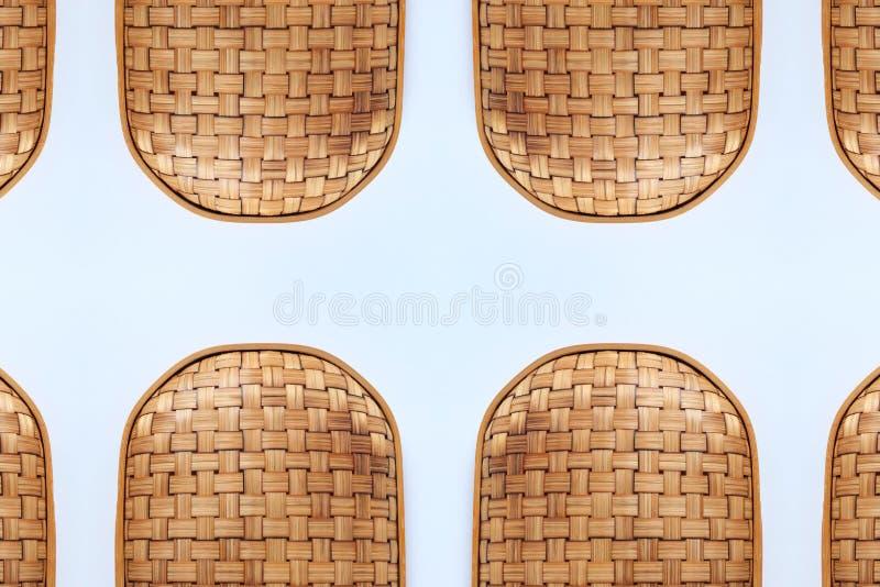 Canestri di tessuto di bambù struttura e modello fotografia stock