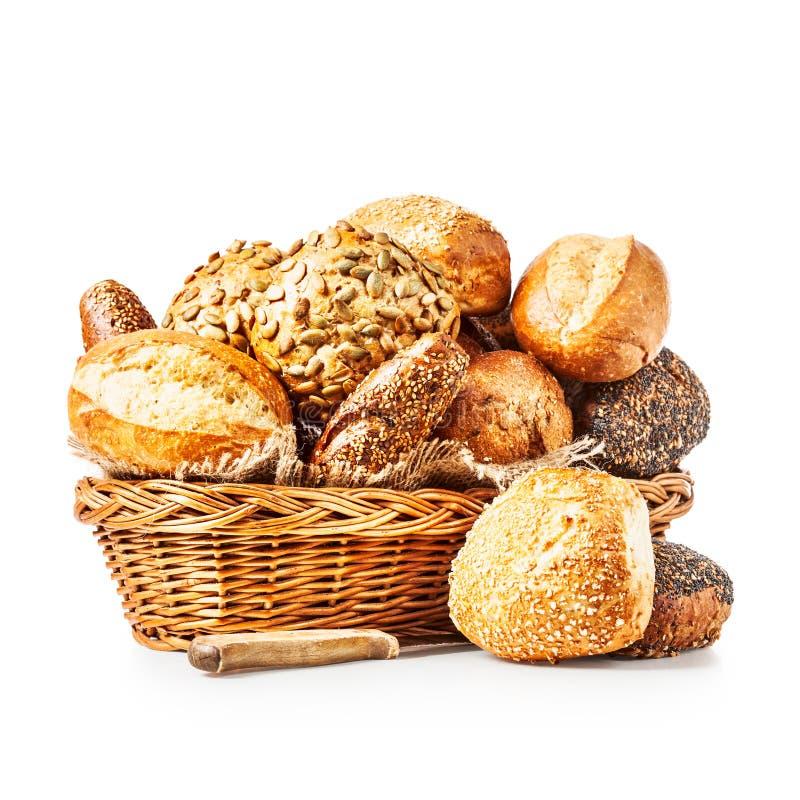 Canestro dei panini del pane fotografia stock libera da diritti