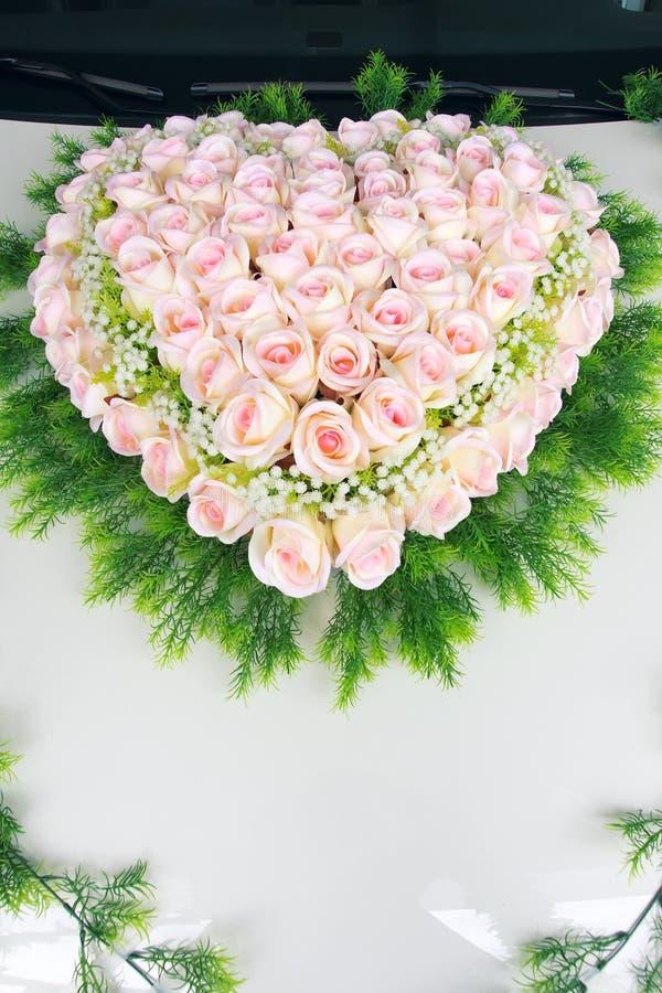Canestro del fiore di Rosa fotografia stock libera da diritti