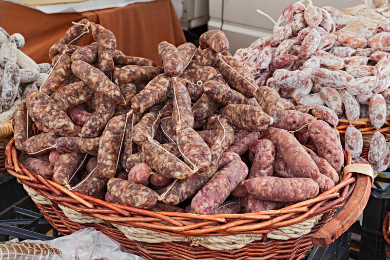 Salsiccia italiana immagine stock libera da diritti