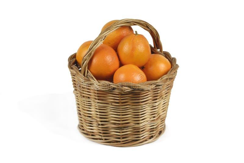 Canestro delle arance immagini stock libere da diritti