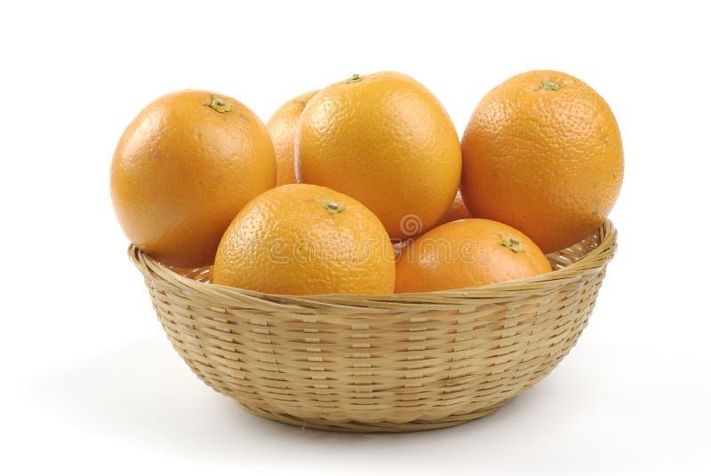 Canestro delle arance immagine stock
