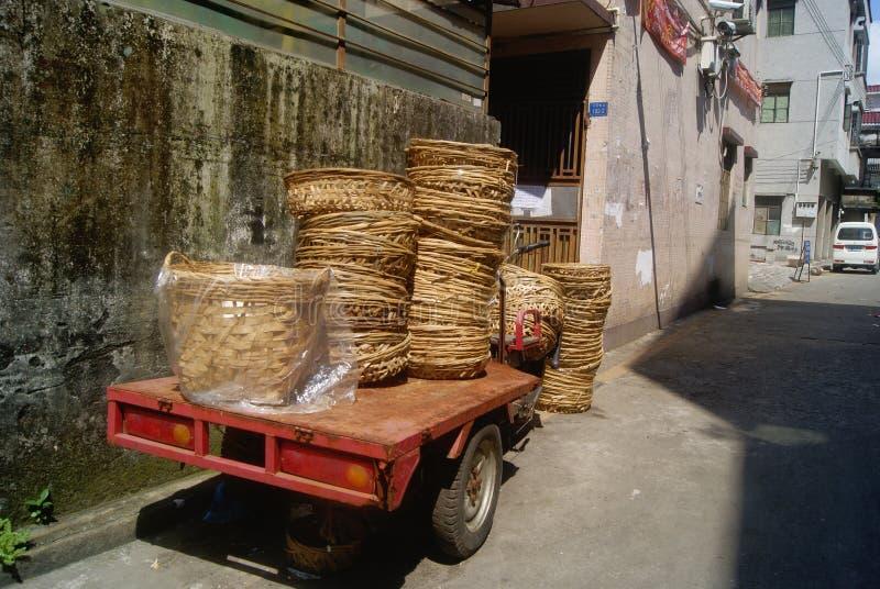 Canestro di bambù immagini stock libere da diritti