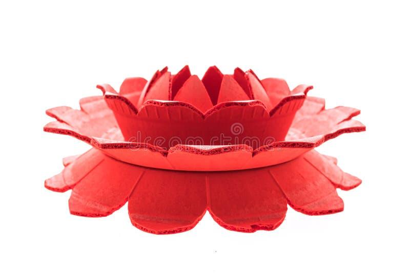 Canestro di galleggiamento per il festival loy del krathong immagine stock