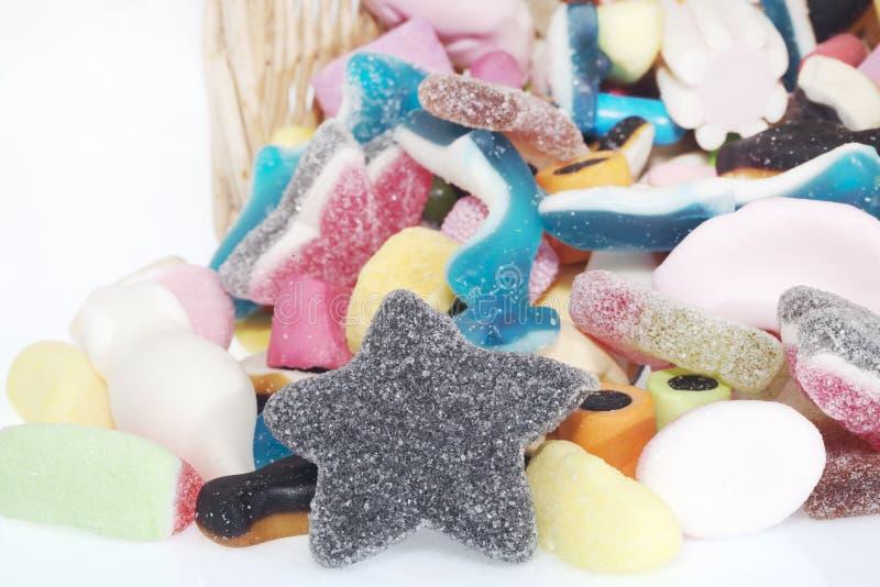 Canestro di Jelly Candy fotografia stock libera da diritti
