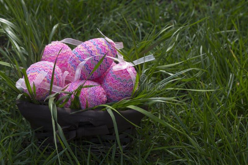 Canestro di Pasqua immagini stock libere da diritti