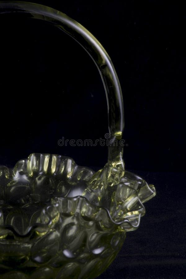 Canestro di vetro di Fenton fotografia stock