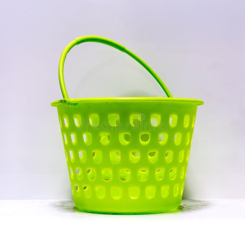 Canestro multiuso a forma di rotonda verde fotografia stock