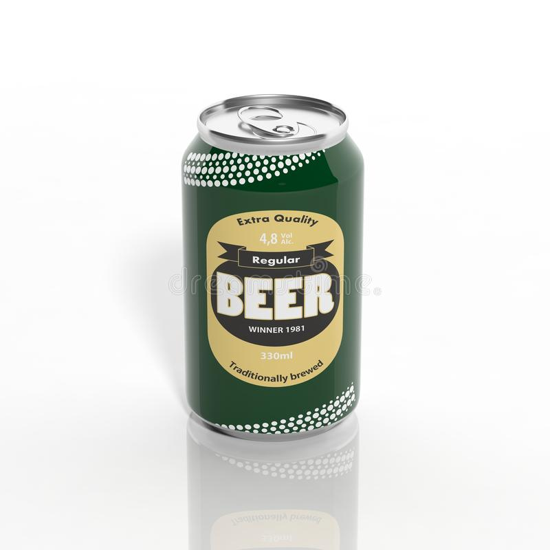 canette de bière 3D illustration libre de droits