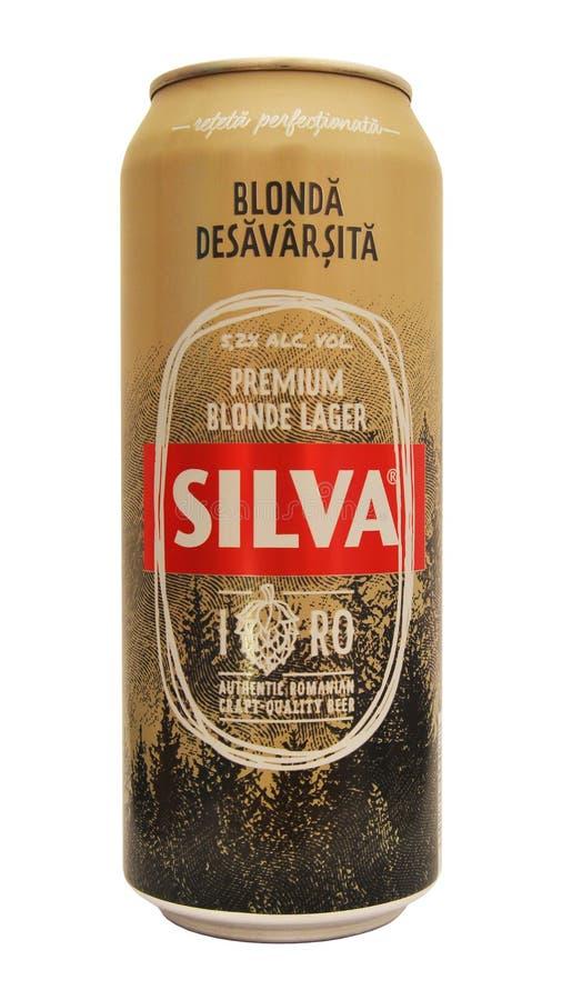 Canette de bière de Silva images libres de droits