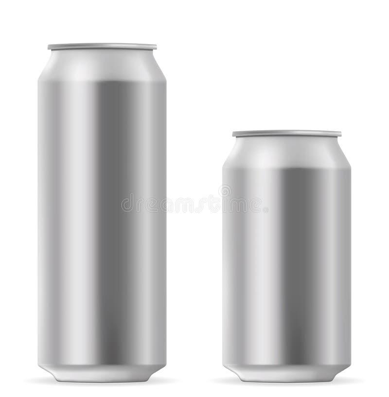 Canette de bière vide illustration stock