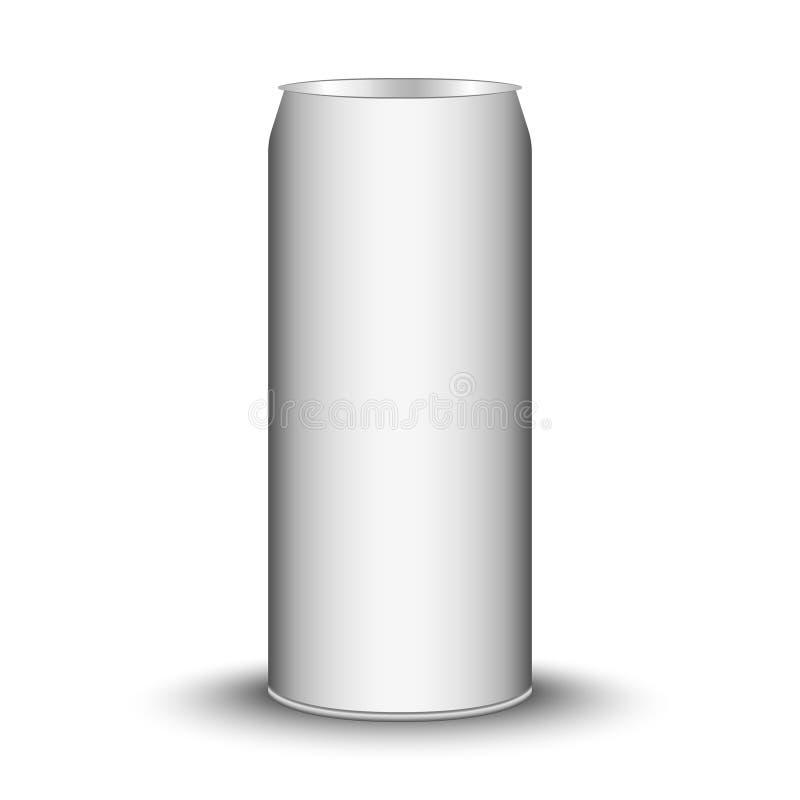 Canette de bière vide, vecteur illustration de vecteur