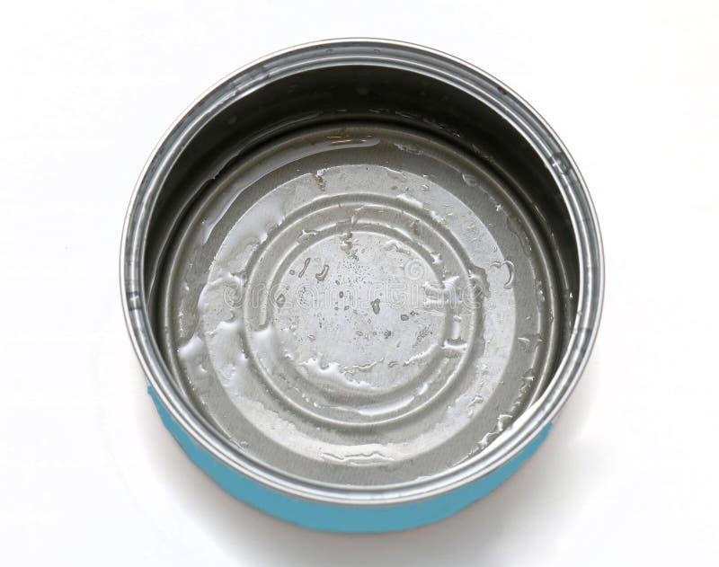 Canette de thon vide photo stock