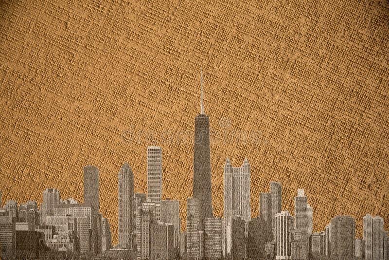 Canevas de Chicago foto de archivo libre de regalías
