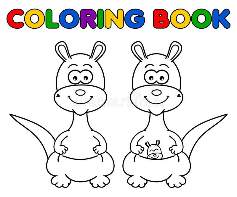 Canguro para colorear ilustración del vector. Ilustración de ...