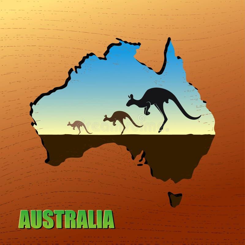 Canguru australiano ilustração royalty free