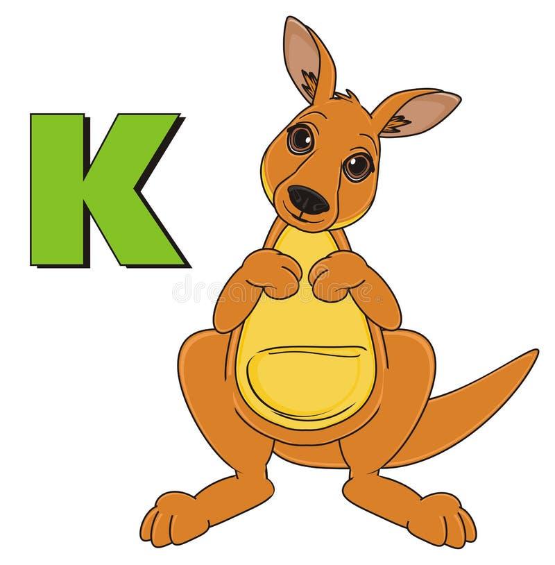Canguru e sinal verde ilustração stock