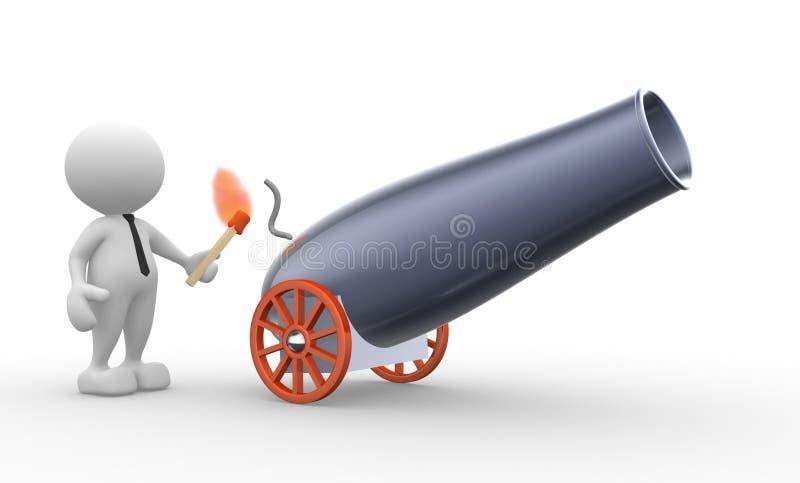 Canhão ilustração stock